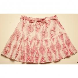 Jupe Portefeuille En Coton Imprimé motif rouge fond blanc