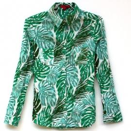 Chemise Femme Coton Imprimé Tropical