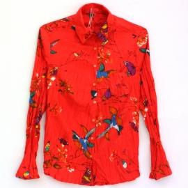 Chemise imprimé rouge colibri