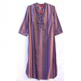 Robe chemise longue imprimé cubic