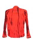 Chemise Tie And Dye Shibori Rouge