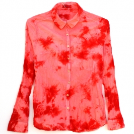 Chemise Tie and Dye Shibori ROSE ET ROUGE