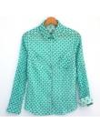 Chemise femme coton imprimé écailles vertes