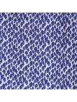 Chemise femme coton imprimé sardine electrik blue