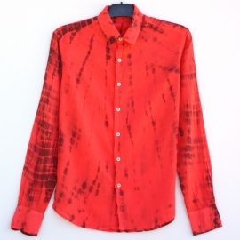 Chemise tie and dye rouge boredeaux