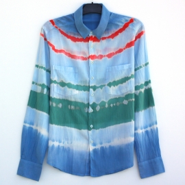 Chemise rayures tie and dye