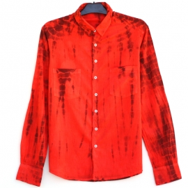 Chemise tie and dye rouge bordeaux