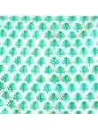 Chemise imprimé bleu vert Merveille