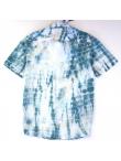 Chemise Tie and Dye Shibori Bleu Orage et Blanc