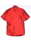 Chemise Tie and Dye Shibori Rouge Bordeaux