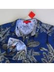 Robe Chemise Exotic Bleu Nuit