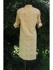 Robe Chemise Coton Imprimé Floral Ocre