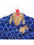 Robe Chemise Coton Imprimé Mosaïque Bleu Indigo