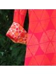 Robe Chemise Viscose Imprimé Géométrique Rose