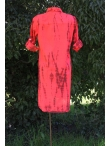 Robe Chemise Coton Tie and dye Rouge