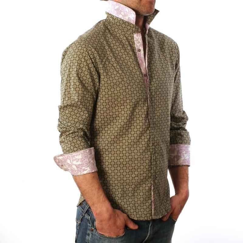chemise homme coton imprim lucille caracol de color. Black Bedroom Furniture Sets. Home Design Ideas