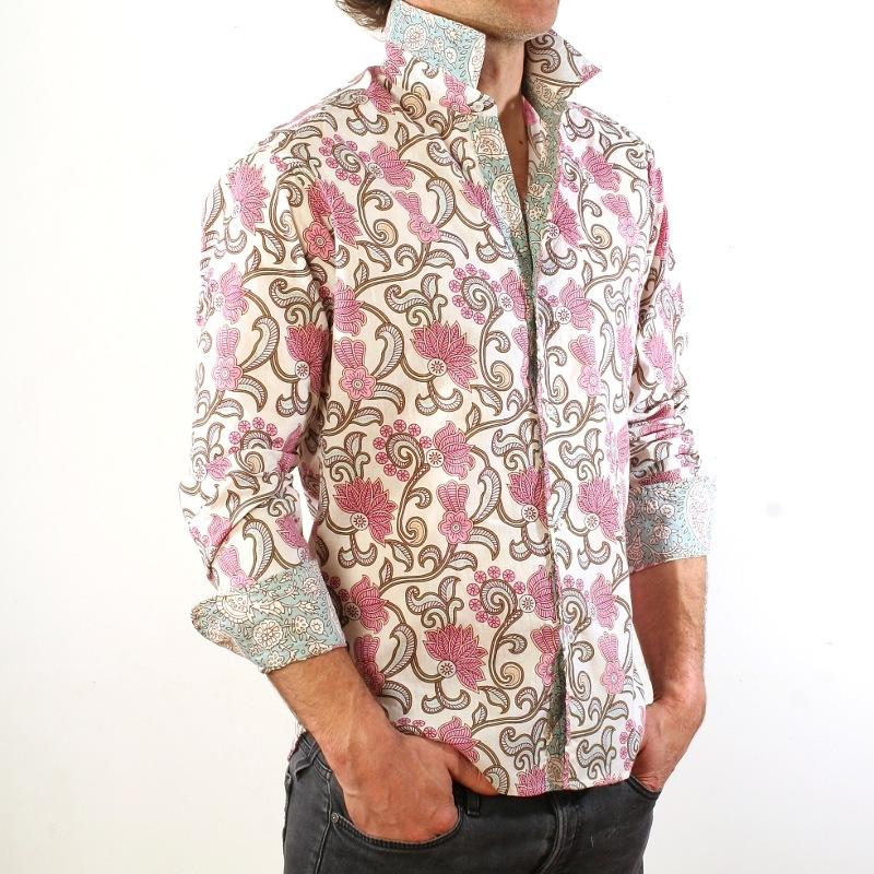 chemise homme coton manches longues slim fit safia. Black Bedroom Furniture Sets. Home Design Ideas