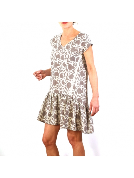 Robe Norah En Coton Imprimé