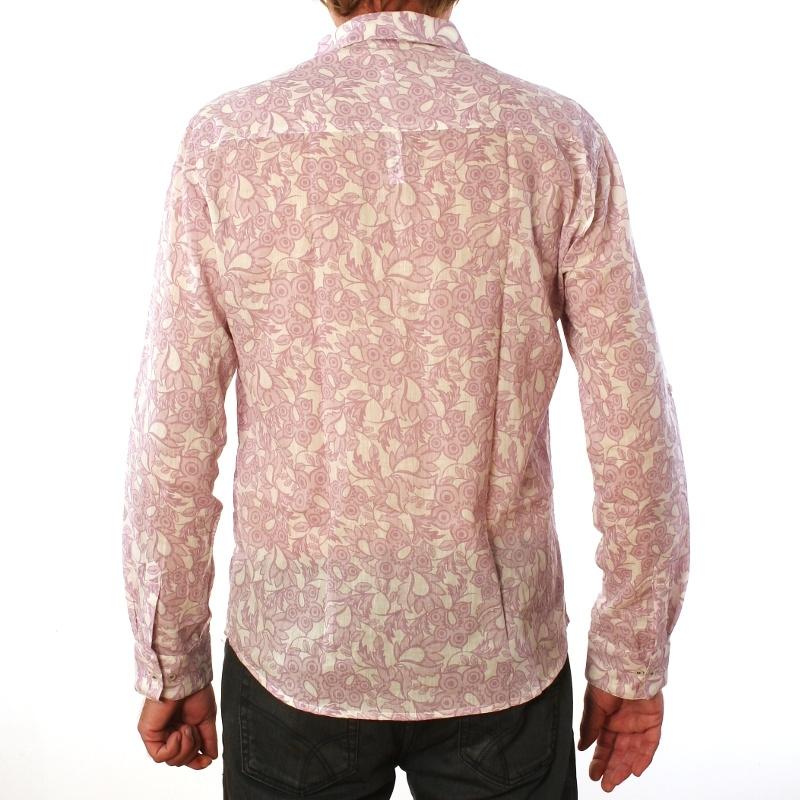 chemise homme manches longues coton imprim filigrane caracol de color. Black Bedroom Furniture Sets. Home Design Ideas